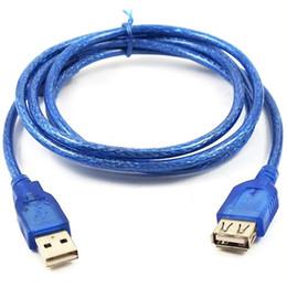 Fils de couleur usb en Ligne-Couleur bleue 1.5M 5FT USB 2.0 Mâle à Femelle F Câble de rallonge USB Câble d'extension 1.8M Câble 3M