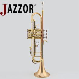 JAZZOR JBTR-410 B trompette plate Instruments à vent phosphoruscopper laque doré ? partir de fabricateur