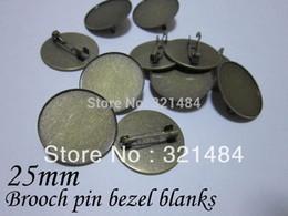 2020 messing-cameo Antique Bronze Messing Metallsicherheitsnadel Brosche Laufwerksblenden, Brosche Basis 25mm Cameo Einstellung Nickel frei und bleifrei günstig messing-cameo