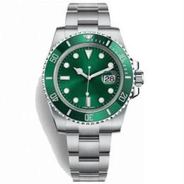 механические часы зеленый циферблат Скидка Бесплатная доставка погружение механические наручные часы сапфир 40 мм 116610LV HULK керамический зеленый циферблат безель автоматические механические мужские часы часы