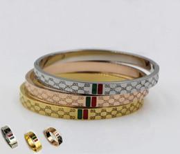 Novo designer de luxo jóias homens mulheres pulseira / anel de aço de titânio moda pulseiras / anéis de ouro rosa de prata de ouro 3clrs Não caixa Original de Fornecedores de pulseira de identificação de ouro das mulheres