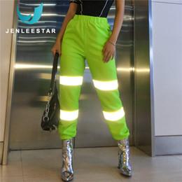 leggings estilo street Rebajas Pantalones deportivos para correr Mujeres Gimnasio Fitness Correr Leggings Fluorescencia reflectante Cintura elástica Estilo de calle Secado rápido Transpirable
