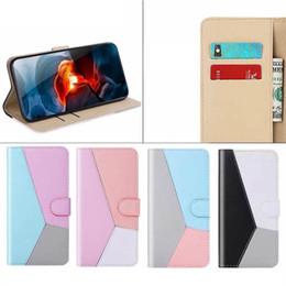 Custodia a portafoglio in pelle di colore a contrasto ibrido per iPhone 11 Pro MAX XR XS X 8 7 6 Samsung Note 10 Pro S10 Porta slot per schede ID da