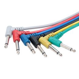 línea de instrumentos de un solo cable efectos de guitarra para bajos caja eléctrica integrada codo línea de audio cable de audio 30 cm desde fabricantes