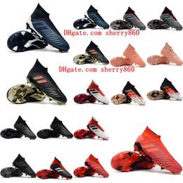 2018 botines de fútbol de calidad superior para hombre Predator 19.1 FG 18.1 zapatos de fútbol Predator 19 FG 18 botas altas de tobillo para fútbol al aire libre desde fabricantes