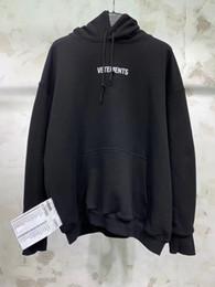 Deutschland Neue hochwertige Mode VETEMENTS Stickerei Brief drucken Männer Frauen Pullover Hoodies Hip Hop Kanye West Skateboard Sweatshirts XS-L supplier vetements hoodie Versorgung