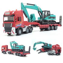 1:50 Die Cast Model Cars scale automóvel Liga Veículo gld3 Coche Crianças Brinquedos Engenharia Truck Trailer Wook Truck Digger de