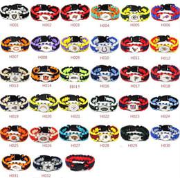 Mix Stilleri 32 Futbol Takımı Paracord Survival Bilezikler Custom Made Kamp Spor Bilezikler Özelleştirilmiş logo Takım şemsiye nereden