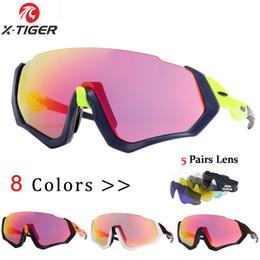 fe5487d3e0 X-TIGER 5 lentes polarizadas Gafas de ciclismo Ciclismo de carretera Gafas  de sol Gafas de sol de bicicleta MTB para hombres / mujeres # 171510 tiger  ...