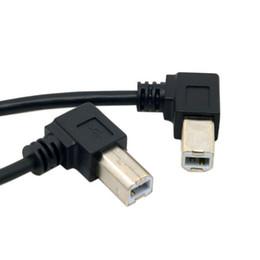 Cable de extensión tipo b usb online-Oficina de la computadora Cables de la computadora Conectores Recto izquierdo derecho angulado 90D USB B Tipo macho a USB B Tipo hembra Extensión