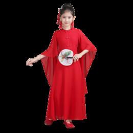 Klavierkostüme online-Chinesische Kinder Adult Female Chorus Kleid altes Kostüm Guzheng Leistung Kleid Erhu Klavier Pipa Stage Performance
