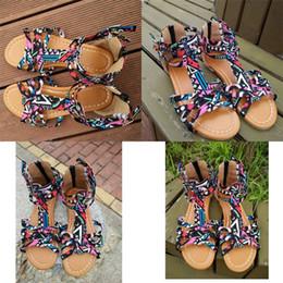 sandali etnici Sconti Sandali delle donne della Boemia Estate Balneare Vacanze Stile etnico Flattie Scarpe di alta qualità Tempo libero Bardian Vendita calda 27zj D1
