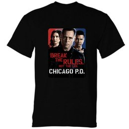 tshirt d Promo Codes - Chicago P D TV Show DRama Series Black T-Shirt Unisex Funny free shipping Unisex Casual Tshirt top