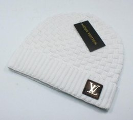 Cappello del bordo online-lvBrand Moda cappello invernale per uomo e donna lavorato a maglia Cappello caldo orlo cappello libero da trasporto