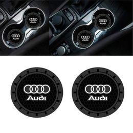 2019 tazza di toyota 2 pezzi 2,75 pollici per auto Accessori Interni Anti Slip Cup Mats Inserire Coaster per Audi A3 S3 RS3 A4 S4 A5 A6 S6 A7 S7 RS7 A8 Q3 Q5 Q7 Q8