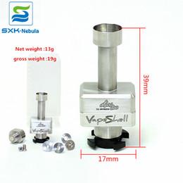 Tanque de venda on-line-Venda quente Vape Shell SXK Clone Atomzier Vapeshell para caixa de boleto Qualidade BB mod RBA ponte SS Atom frete Grátis tanque Boro vapor