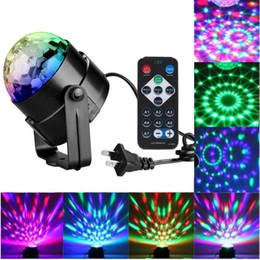 luci laser mini attive Sconti Mini DJ Disco Ball stage light Lumiere Sound Activated Laser Projector RGB Light Lighting effetto lampada Light per musica Christmas KTV Party