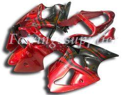 carena per kawasaki red ninja zx6r Sconti OEM qualità nuova ABS Carene stampi a iniezione kit 100% per Kawasaki Ninja ZX6R ZX6R 636 2000 01 02Bodywork impostati Gloss Red
