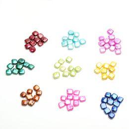 JNMM 20 Unids Perla Suelta Forma Cuadrada Perlas de Agua Dulce Teñidas Cuentas de Color Mezclado para Regalo Cuadrado Barroco Rebanada Para DIY sin ostra desde fabricantes
