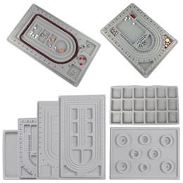 Flocked Bead Board Bracelet Beading Jewelry Organizer Diseño de la herramienta DIY Craft Tool envío gratis desde fabricantes