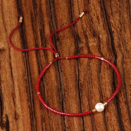 2019 perlen-armbänder Bunte Seil Kette Perlen Armband Frauen MIYUKI Glasperlen Handgemachte Einstellbare Perle Charme Weiblichen Armband Freundschaft Pulsera rabatt perlen-armbänder