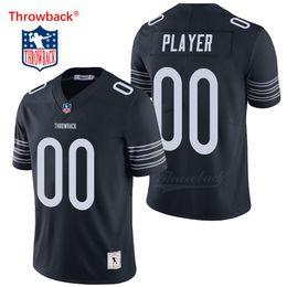 8006854fce9d0 2019 camiseta de fútbol americano xxl barato Throwback Jersey de los  hombres de Chicago American Football