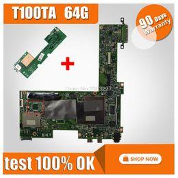 quad core cpu 775 Rabatt Sende Board + Original für ASUS T100TA 64G Motherboard T100TA REV2.0 Mainboard 100% getestetes Mainboard
