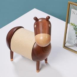 2019 caixa de xadrez em madeira Novo burro dos desenhos animados home decor criativo suporte de toalha de papel de madeira titular rolo artes e ofícios de alta qualidade