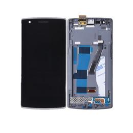 Oneplus uma tela lcd on-line-Alta qualidade display lcd com tela de toque digitador assembléia para oneplus one plus 1+ a0001 com frame