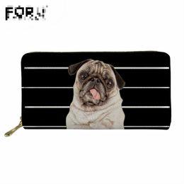 мопс-кошелек Скидка FORUDESIGNS Мопс собака кожаный бумажник женщины кошельки дамы карты кошелек клатч женский Carteras Mujer Monederos женская сумка Feminina