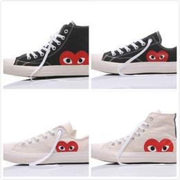 Sapatas do gramado on-line-2019 1970 sapatos original de homens Mulheres que funcionam Sneakers Low High Top Skate Big Eye Moda Casual frete grátis