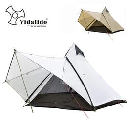 postes de la tienda Rebajas Tienda de yurta india de lujo de grado superior de Vidalido / poste de aluminio multijugador grande tienda de cúpula de doble capa para camping al aire libre