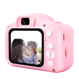 digital blue screen Promo Codes - 2019 Hot Xmas for Kids Camera Children Mini Digital Camera Cute Cartoon Cam 13MP 8MP SLR Camera Toys for Birthday Gift 2 Inch Screen