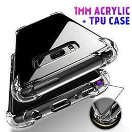 luft klar Rabatt 1MM Acryl Air Cusion Shockproof High Clear Handy-Fälle für iPhone 6s / 7/8 xr xs max Samsung s10 huawei p30 vier Ecken Schutz