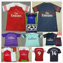 2019 camisas feitas sob encomenda dos miúdos 2018 2019 Arsenal Camisas De Futebol AUBAMEYANG OZIL MKHITARYAN LACAZETTE TORREIRA IWOBI XHAKA Personalizado Casa Fora Do Homem Das Mulheres Camisa De Futebol Dos Miúdos camisas feitas sob encomenda dos miúdos barato