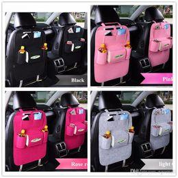 Caixa organizada on-line-7 Cores New Car Auto Suporte do assento Organizador Multi-bolso de armazenamento Travel Bag Cabide Backseat Organizador Box