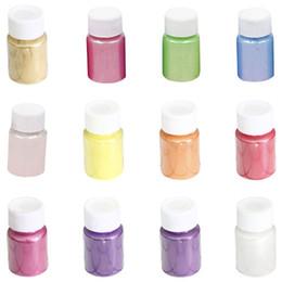cor pérolas para artesanato Desconto 12 Pçs / set DIY Artesanato Jóias de 12 cores Pérola Pigmento de Cristal Epóxi Material de Enchimento Lama Material lama