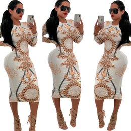 multi wear dresses Promo Codes - Women Designer Dress Stretch Sexy Party Dresses Floral Print Skinny Club Wear Gorgeous Vestidos Maxi Bandage Bodycon Dress