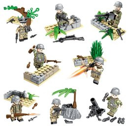 Ii guerra online-Educational WW2 La battaglia di Berlino Esercito tedesco Building Block Mini Toy Figure World War II Military Brick Set
