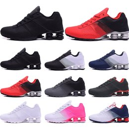colorful tennis shoes Promo Codes - Designer Shoes R4 Nz Mens Running shoes black red gold blue white Pink colorful Hot Sale Athletic Trainers Sports Sneakers size 40-46