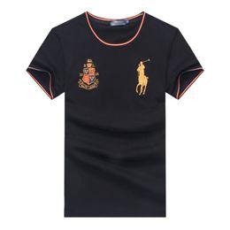 Лорен бренд футболка поло Ральф футболка мужская дизайнер футболка высокое качество футболки классическая вышивка пони Марк футболки размер M-XXL от