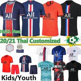 2019 jersey de deutschland Thai Maillots de equipos de fútbol 19 20 PSG fútbol jerseys Mbappé ICARDI Marquinhos CAVANI Sarabia cuarta camisa hombres hijos de las mujeres conjuntos Camisa Cuarto