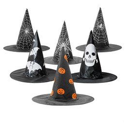 Adult Witch Hat Pointed Cap Enchanter Witches Halloween Wizard Costume Accessory