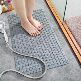Pastiglie per la pulizia del bagno online-Tappetino da bagno Rettangolare da doccia Pad Eco-friendly antiscivolo WC Facile da pulire Foro di scarico Presa di aspirazione posteriore Bagno moderno
