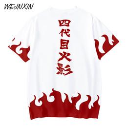 2019 plus größe naruto kostüme Neue Verkauf Anime 3d Druck T-shirt Naruto Yondaime Hokage Kostüm Streetwear Harajuku Tops Tees 4xl Plus Größe Unisex Camiseta T2190603 rabatt plus größe naruto kostüme