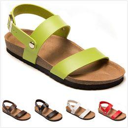 Canada Sandales en cuir véritable Arizona Mayari Summer Beach Cork Pantoufles en liège Tongs Sandales Wrap racine Femmes Casual Boucle Diapositives Chaussures Offre