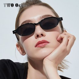 68714c4d90 TWO Oclock 90s Oval Sunglasses Women Retro Small Round Frame Sun Glasses  Ladies Vintage Tortoise Eyeglass Punk Oculos 8813057