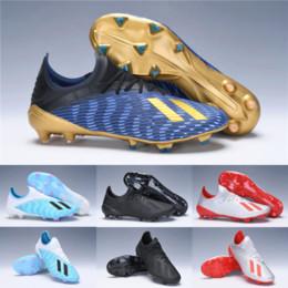 stivali di metallo mens Sconti Top Quality 2019 Cheap Newest Mens Original X 19.1 FG scarpe da calcio in metallo blu bianco nero Mercury Red impermeabile X19.1 scarpe da calcio tacchetti