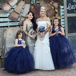 Hacer ropa de bebé niña flores online-2019 Vintage Flower Girls 'Vestidos Baby Infant Toddler Baptism Clothes With Tutu Vestidos de fiesta Cumpleaños Vestido de fiesta de boda Hecho a medida