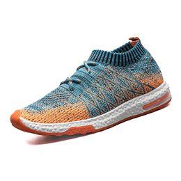 Мужская летняя обувь онлайн-Summer Men Casual Shoes -knitted Shoes for Man Sneaker Male Fashion Sock
